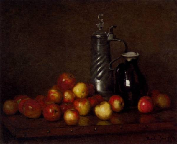 Apples With A Tankard And Jug